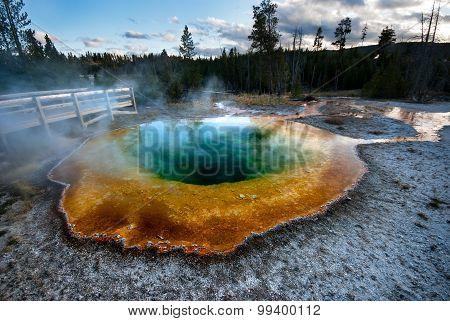 The Morning Glory Pool in Yellowstone National Park