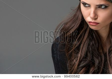 Unhappy young woman