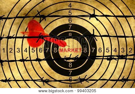 Market Target Concept Against Barbwire