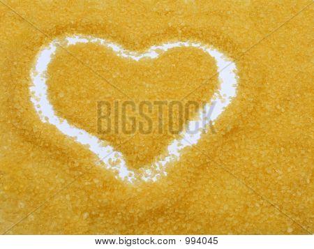 Heart Drawed On Bath Salt