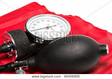 Blood Pressure Cuff, Close-up Isolated
