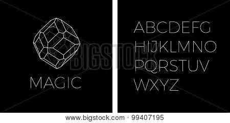 Line Art Precious Stone Logo