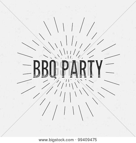 Abstract Creative concept vector design layout with text - bbq party. For web and mobile icon isolat