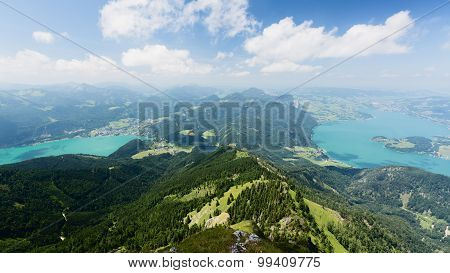 Two Mountain Lakes By Summer - Scenic View
