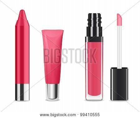 Lip gloss. Vector