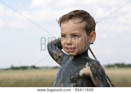 Child With Healthy Mud