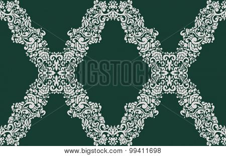 Seamless damask pattern for wallpaper decoration design.