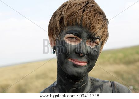 Woman With Healthy Mud