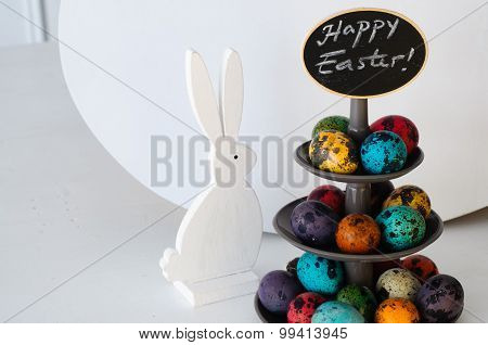 Quail Eggs On Cakestand - Easter Decoration
