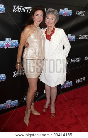 LOS ANGELES - AUG 19:  Rita Moreno, daughter Fernanda at the 2015 Industry Dance Awards and Cancer Benefit Show at the Avalon on August 19, 2015 in Los Angeles, CA