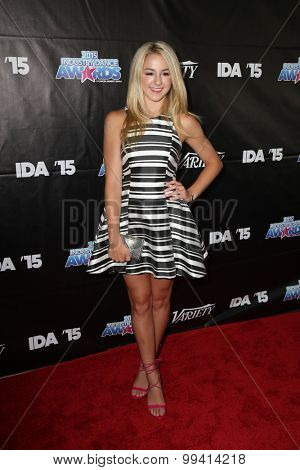 LOS ANGELES - AUG 19:  Chloe Lukasiak at the 2015 Industry Dance Awards and Cancer Benefit Show at the Avalon on August 19, 2015 in Los Angeles, CA