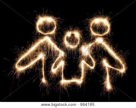 Familie symbool Sparkler