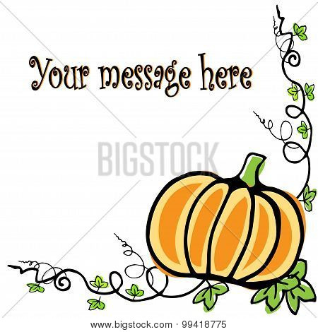 Background With Pumpkin