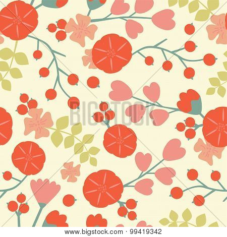 Abstract Retro Seamless pattern.