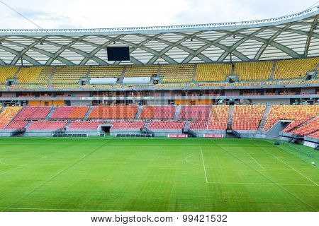 MANAUS, BRAZIL - CIRCA MARCH 2014: Amazonia Arena in Manaus, Brazil.