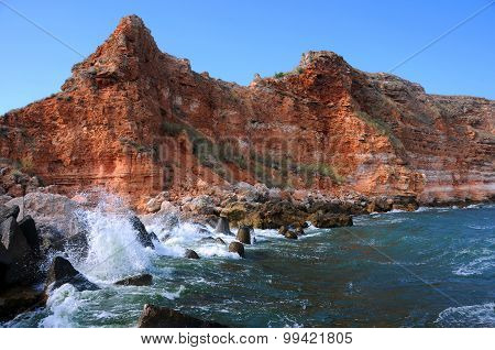 Rocky Coast And Waters Of Bolata Beach