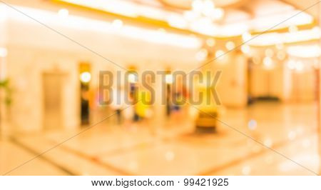 Image Of Blur People Waiting For Elevator