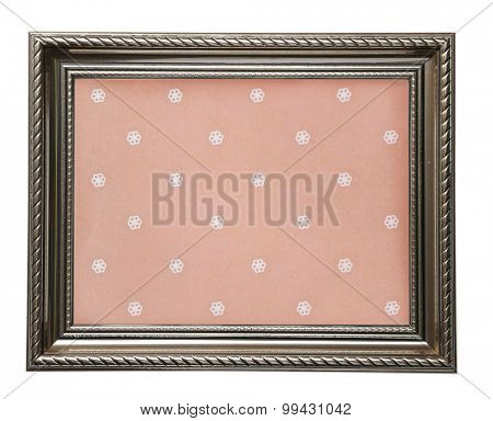 Old frame canvas isolated on white