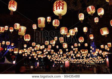 Lantern Garden at Brisbane Festival