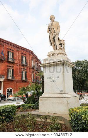 Statue Of Niccolo Piccinni At The Teatro Piccinni In Bari, Italy