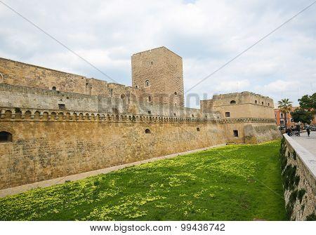 Swabian Castle In Bari, Puglia, Italy