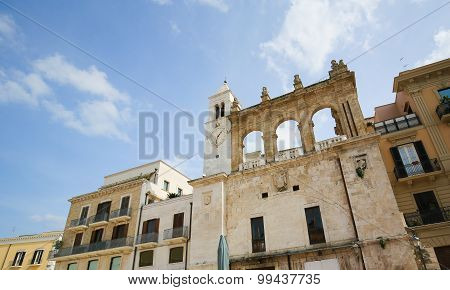 Clock Tower In The Center Of Bari, Italy