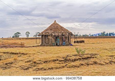 Landscape In Ethiopia Near Gebre Guracha