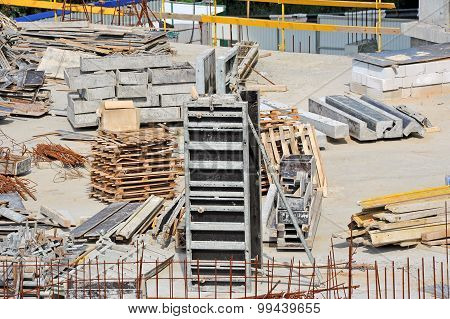 Reinforcement and construction equipment