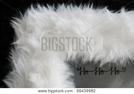 White Fur Framed Christmas Greeting