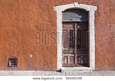 Rustic Colonial Style Entry Door