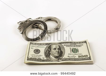 Dollars And Steel Handcuffs