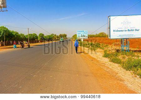 Welcome Sign To Bahir Dar