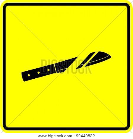 kitchen knife sign