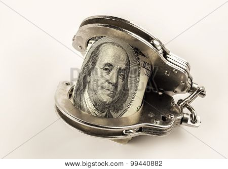 Dollars And Steel Police Handcuffs