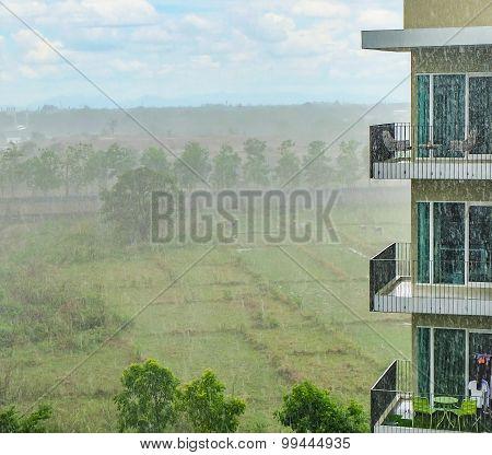 Condominium In Rainy Day