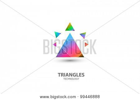 Triangles Logo Abstract Business Technology icon easy editable