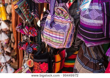 Mexican traditional handmade bags