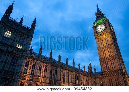 View of Big Ben from Westminster Bridge