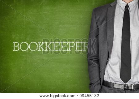 Bookkeeper on blackboard