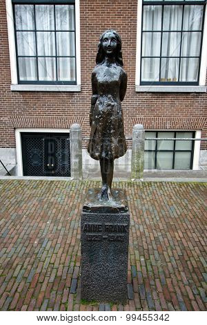 Statue of Anne Frank, Amsterdam, Netherlands