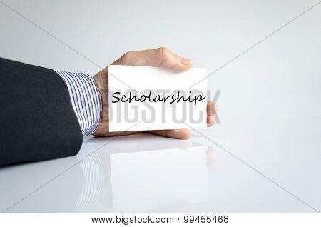 Scholarship Text Concept