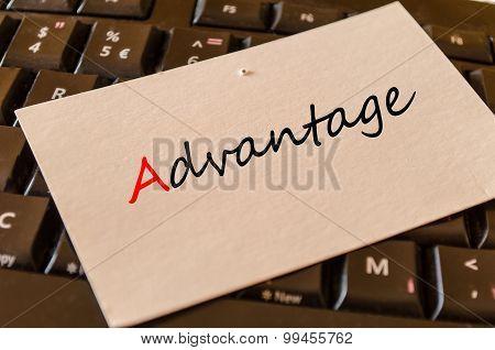 Advantage Text Concept