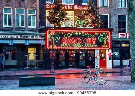 Coffeeshop Smokey cannabis coffee shop, Amsterdam, Netherlands