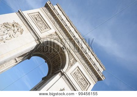 Arc de Triomphe at angle