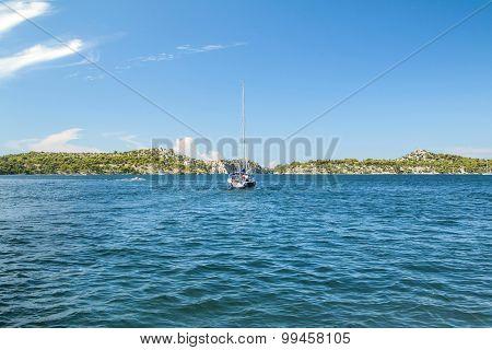 Sailboat at the Adriatic sea
