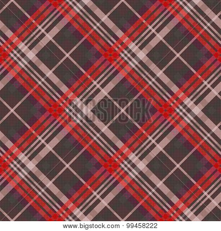Diagonal Tartan Seamless Texture Mainly In Muted Colors