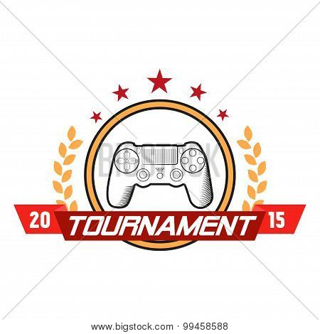 computer game tournament label