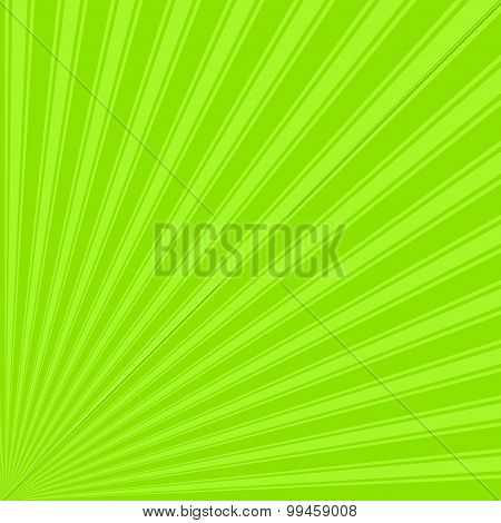 Apple green color stripes funky rays background