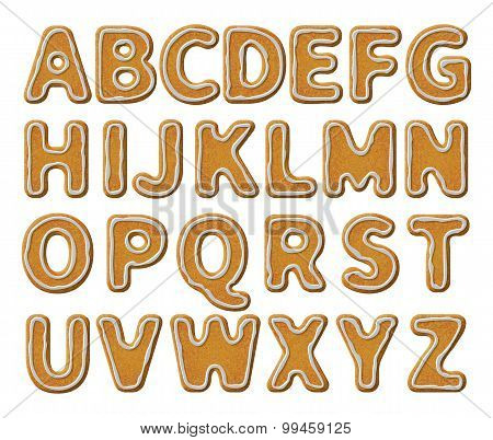 Gingerbread Alphabet With Glaze