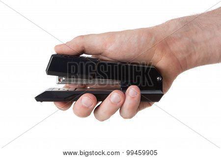 Black Stapler Close Up Shot